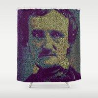 Edgar Allan Poe. Shower Curtain