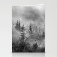 Misty Forest. BW Stationery Cards