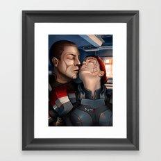 Mass Effect - A moment alone. Framed Art Print