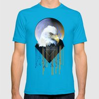 Wise Eagle Mens Fitted Tee Teal SMALL