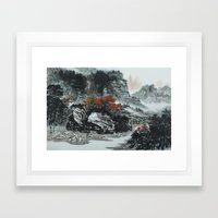 The spring of Absolute Valley Framed Art Print