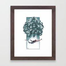 Falling Shepard Framed Art Print