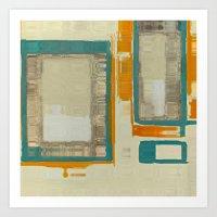 Mid Century Modern Abstr… Art Print