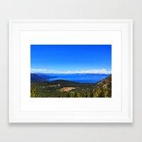 Incline Lake Framed Art Print