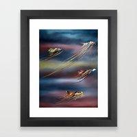 Dancing in Space Framed Art Print