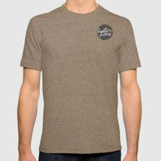 HIPSTER VIBES Mens Fitted Tee Tri-Coffee SMALL