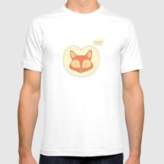 Mr. Foxy White Mens Fitted Tee SMALL
