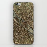 Old Paris Map And Other … iPhone & iPod Skin