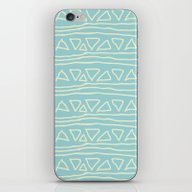 Blue Scribbles 05 iPhone & iPod Skin