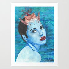 Mermaids - Claire Art Print