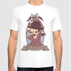 Pirate Mens Fitted Tee White SMALL
