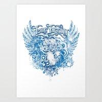 Love is born Art Print