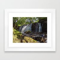 Allt Beochlich Waterfall Framed Art Print