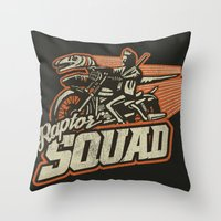 Raptor Squad Throw Pillow