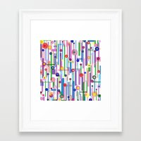 Framed Art Print featuring Plink (see also Plink Cherry and Plink Purple) by Shawn King