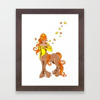 Female Centaur Framed Art Print