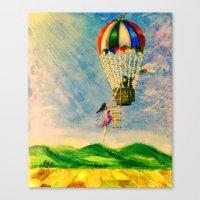 BALLOON LOVE: Flying Awa… Canvas Print