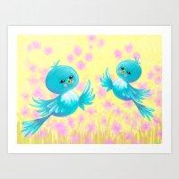 Bluebirds On My Mind Art Print