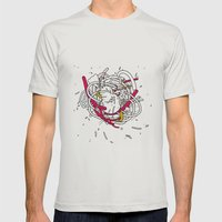 Anatomy Party Mens Fitted Tee Silver SMALL