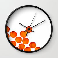 Crystal Balls Orange Wall Clock