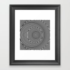 Black and White Dizzy Framed Art Print