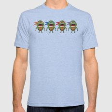Screaming Turtles Mens Fitted Tee Tri-Blue SMALL