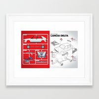 Lancia Delta History Mod… Framed Art Print