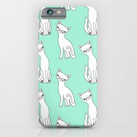 Mint and white retro cats iPhone 6 Slim Case