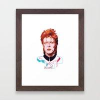 Bowie (Words) Framed Art Print