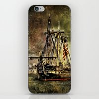Tall ship USS Constitution iPhone & iPod Skin