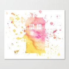 Watercolour TARDIS Canvas Print