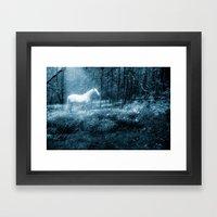 Under a moonlit sky Framed Art Print