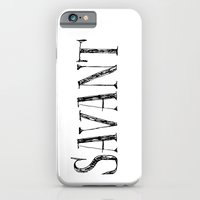 Savant - black on white version iPhone 6 Slim Case
