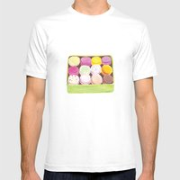 Macarons Mens Fitted Tee White SMALL