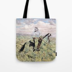 The Unknown Rider in Death Rides The Pecos Tote Bag