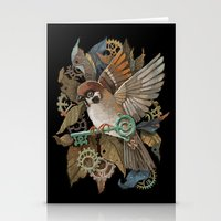 Clockwork Sparrow Stationery Cards