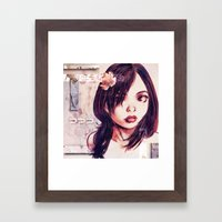 Unknown Girl Framed Art Print