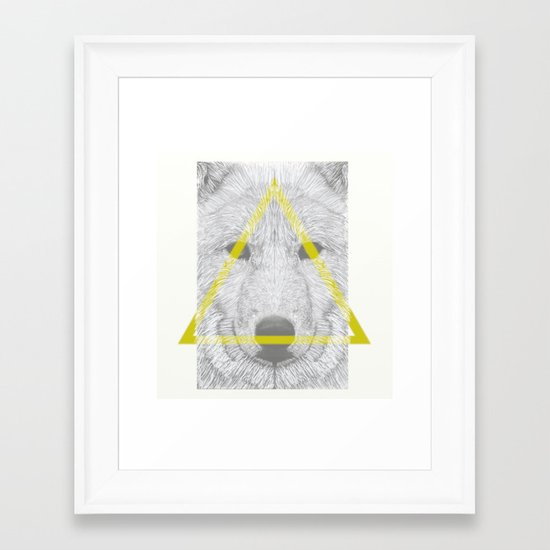 WOLF III Framed Art Print