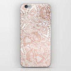 Chic hand drawn rose gold floral mandala pattern iPhone & iPod Skin