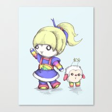 Rainbow Plush Canvas Print