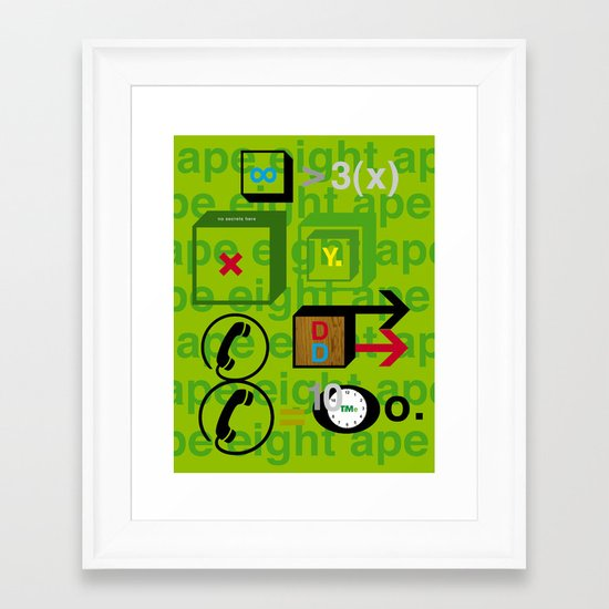 Ape Eight Ape Framed Art Print