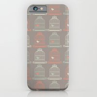 Bird Cage Pattern, Illustration, Shabby Chic, Vintage, iPhone 6 Slim Case