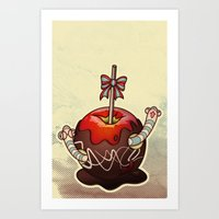 SWEET WORMS 2 - Caramel … Art Print