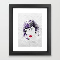 Queen Of Pin-Up Framed Art Print