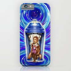 11th Doctor with Blue Phone box in time vortex Slim Case iPhone 6s