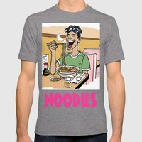 Noodles Mens Fitted Tee Tri-Grey SMALL