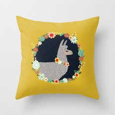 lovely llama Throw Pillow