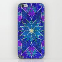 Lotus 2 - Blue And Purpl… iPhone & iPod Skin