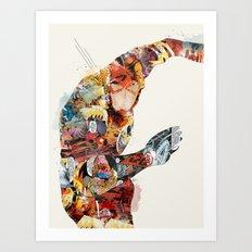 quick as lightning Art Print