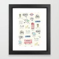 Tour Of London Framed Art Print
